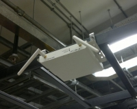 Wire-Free Environment Sensor Reader Mount on standard data centre cable ladder