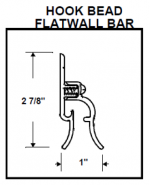 Flat Wall Hook Bead dimensions
