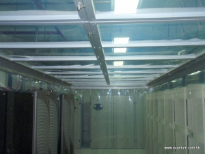After installation of tailored cold aisle containment solution